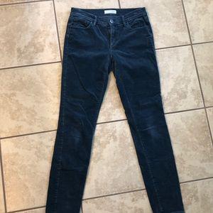 LOFT modern skinny blue corduroys